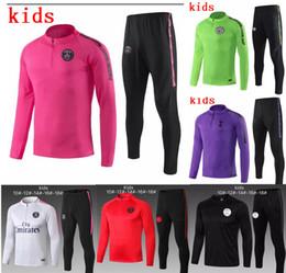2b96b5aff0e Real Madrid kids DI MARIA CAVANI Paris training suit soccer Jerseys kit 18  19 20 boys psg football jacket tracksuit set