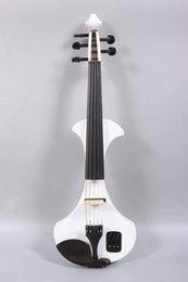 Woods Electric NZ - Yinfente 4 4 Electric Violin 5string Active Pikcup Solid wood Violin White Color with violin case bow