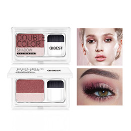 $enCountryForm.capitalKeyWord NZ - 1 Pcs Makeup Pallete QIBEST Two-color Lazy Eye Shadow Seal Two-color Gradient Pearl Eye Shadow with Brush Palette