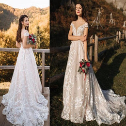 Cheap vintage plus size dresses online shopping - 2019 gorgeous D Foral Lace country boho plus size long Wedding Dresses bohemia Bridal Gowns custom made vintage cheap vestidos de novia