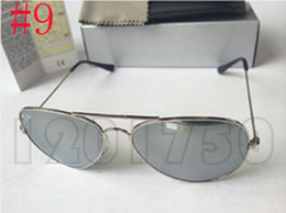Vintage round metal glasses online shopping - 2019 Designer Sunglasses Rays Vintage Pilot Men Women mm mm Bans UV400 Justin Band Mirror Metal Frame Glass Lens Ben Classic with cases