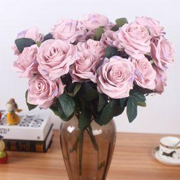 $enCountryForm.capitalKeyWord Australia - Artificial silk 1 Bunch French Rose Floral Bouquet Fake Flower Arrange Table Daisy Wedding Flowers Decor Party accessory Flores