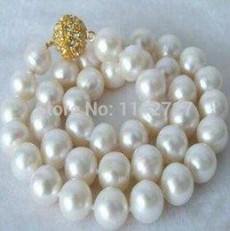 $enCountryForm.capitalKeyWord Australia - women Fashion Jewelry 2014 new fashion moving Beautiful!14MM White Shell Pearl Necklace beads jewelry Natural Stone BV40 Wh