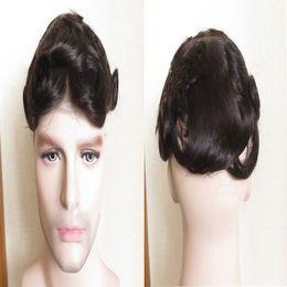 $enCountryForm.capitalKeyWord Australia - The latest discount men's black wig, specially tailored for men, black hair shiny, 100% fashion, wear comfort.TKWIG