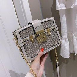 $enCountryForm.capitalKeyWord Australia - Factory direct brand women handbag fashionable foreign style diamond hard box bag elegant temperament diamond Chain bag Joker rivet lock Han