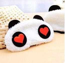 $enCountryForm.capitalKeyWord Australia - New Cute Face White Panda Eye mask Eyeshade Shading Sleep Cotton Goggles Eye mask sleep mask Eye Cover health Care
