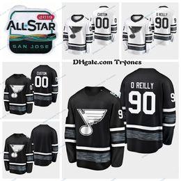 $enCountryForm.capitalKeyWord Australia - 2019 All Star Game St. Louis Blues Ryan O'Reilly Stitched Jerseys Black White Customize Shirts All-Star #90 Ryan O'Reilly Hockey Jerseys