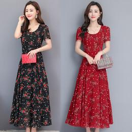 $enCountryForm.capitalKeyWord Australia - Summer Maxi Dress Floral Womens Long Chiffon Dress Plus Size Dress Flower Printed s-4xl Casual Clothes for Ladies New Fashion
