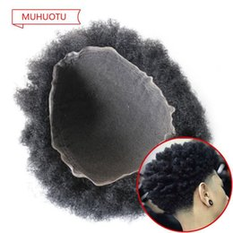 Indian Hair Wigs For Man Australia - Afro Curl Men Toupee 8x10inch Size Top Selling Black Indian Short Hair Afro Kinky Curl Toupee for Black Men Hair System