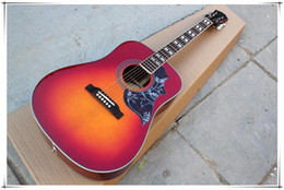 fret binding guitar NZ - 41-inch Folk Acoustic Guitar with Rosewood Fretboard,Flower Pickguard,Binding Body,20 Frets,offer customized