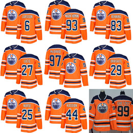 21a17d5615a Men Youth 2019 cheap Edmonton Oilers Hockey Jerseys 97 Connor McDavid 27  Milan Lucic 29 Leon Draisaitl 99 Wayne Gretzky Hockey Jerseys