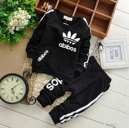 Branded Baby Kids Clothes Australia - New Baby Boys And Girls Suit Brand Tracksuits 2 Kids Clothing Set Hot Sell Fashion Spring Autumn Children's Dresses Long Sleeve A03