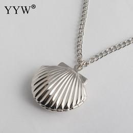 $enCountryForm.capitalKeyWord Australia - Women Fashion Jewelry Sea Shell Rose Gold Locket Necklace Nautical Seashell Pendant Jewelry Birthday Gift Collares De Moda 2019
