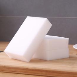 Toptan satış 100 * 60 * 20mm Beyaz Sihirli Melamin Sünger Temizleme Silgi ambalaj Torbası Olmadan multi-fonksiyonel Sünger Araba Ev Temizleme Araçları