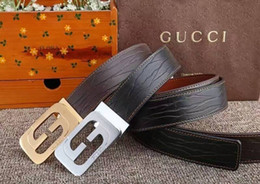 $enCountryForm.capitalKeyWord Australia - Dark brown European and American models popular elements retro love men's luxury belt leather business belt ladies big gold buckle