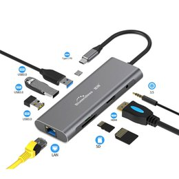 $enCountryForm.capitalKeyWord Australia - Blueendless Usb C Hub Adapter 9 in 1 Usb C To Hdmi 1000Mbps Ethernet Lan Port 3,5Mm Aux 3X Usb 3.0 Tf Sd Card Reader for MacBook Chromebook