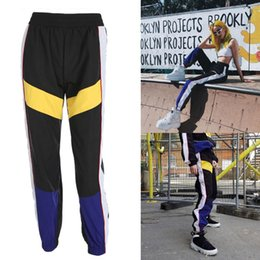 $enCountryForm.capitalKeyWord Australia - Splicing Lace-Up Sport Trousers Home Running Pants School Fitness Sweatpants for Hip Hop Outdoor for Train Women