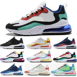 air sports shoes blue green NZ - Brand React Running Shoes For Men Women 2019 Designer Blue Bright Violet Bauhaus Electro Green Phantom Multi-Color Sports Sneakers 36-45