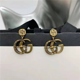 European and American fashion jewelry temperament 925 silver needle Jane personality pendant earrings without box on Sale