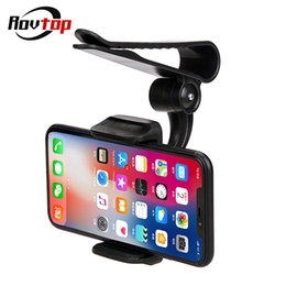 $enCountryForm.capitalKeyWord Canada - Universal Car Sun Visor Phone Mount Holder Bracket Car Navigation Holder Clip Install On Mirror Handle For IPhone Samsung