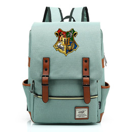 Wholesale magic girl cosplay online – ideas Harry Potter Cosplay Props Magic School Retro School Bag Canvas High Quality Backpack Boy Girl Student School Backpack