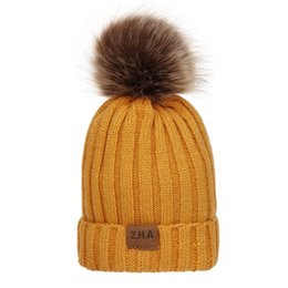 Hair Hat Warm Australia - Autumn And Winter Children Thread Hair Bulb Wool Hat Increase Down Thickening Hat Outdoors Keep Warm Knitting Hat Z.h.a Goods In Stock