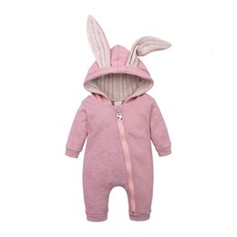 cute baby boy rompers Australia - Spring Autumn Baby Rompers Cute Cartoon Rabbit Costume Infant Girl Boy Jumpers Kids Baby Outfits Clothes Child Overalls 0-18MMX190912