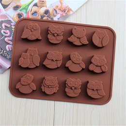 $enCountryForm.capitalKeyWord Australia - Cartoon Owl Shape Decorative Cake Mould Silicone Easy Clean 3D Candy Pastry Mould Chocolate Mold Y0180
