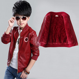 $enCountryForm.capitalKeyWord Canada - 2018 Korean Children Outfits Boys Pu Leather Jackets For Girls Coat Fleece Lining Kids Children Autumn Winter Spring Outwear