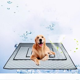 pet cool pad UK - New Pet Supplies Summer Ice Cool Pet Pad Dog Cat House Kennels Mats 3 colors 4 sizes options Wholesale DHL free