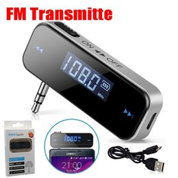 Wholesale 3 mm Cell Phone Handsfree In Car FM Transmitter Mini Wireless Transmitter For iPhone S iPod Touch iPad with Retail Package