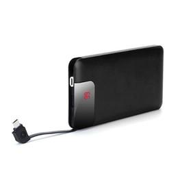 $enCountryForm.capitalKeyWord UK - Wholesale 10000mah Powerbank Battery Portable Large Capacity Ultra-thin Digital Display Cable 5V 2A Charge Power Bank 4.3times for i 6s