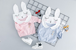 $enCountryForm.capitalKeyWord Australia - Spring Baby Girls Clothing Sets Kids Cartoon Rabbit Hoodies Pants 2Pcs Sets Children Leisure Sport Costume Infant Clothes Suits