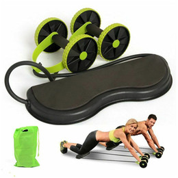 rope wheel Australia - 2019 Newest Hot AB Wheels Roller Stretch Elastic Abdominal Resistance Pull Rope Tool AB roller Abdominal muscle trainer exercise