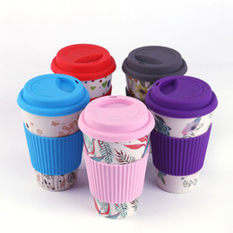 Wholesale New travel portable bamboo fiber green coffee cup home mouth cup