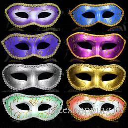 Painting Faces Australia - 14 Colors Half face Gold Powder Flower-around Painting Halloween Masquerade Mask,Venetian Party Mask, Mardi Gras Mask t154