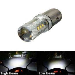 $enCountryForm.capitalKeyWord Australia - 12V H6 80W LED White Bulb Light For Motorcycle Bike Moped ATV Headlight