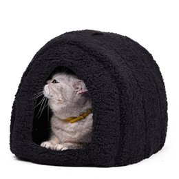 $enCountryForm.capitalKeyWord Australia - Lovely Pet House With a Bow Dog Kennel Puppy and Cat Beds Arched Shape Easy to Wash Easy to take Puppy Dog Cat Living 4 Colors D19011201