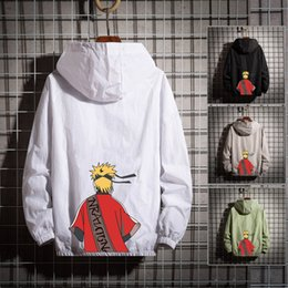 Wholesale naruto coat jacket online – oversize dys01 clothing men s clothes coat sunscreen clothes thin Naruto animation fashion jacket casual handsome middle school student sunscreen cl