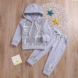 $enCountryForm.capitalKeyWord Australia - kids clothing sets tracksuit Spring and Autumn Girls Long sleeve sequins Hoodies Top+Trousers 2 Piece Sets kids designer clothes girls JY367
