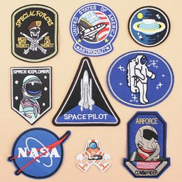 Good Patches For Wholesale Australia - Patches Good Quality Astronaut Divers Embroidery DIY Iron on Patches For Clothing Applique For Washable Stickers Appliques Badge