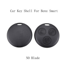 Benz Smart Key Shell Australia - 3 Buttons Without Blade Replacement Car Key Shell For Benz Smart Fortwo For Mercedes Benz Case Hot Sale