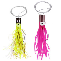 Resin Trolling Lures Australia - Fishing Resin Squid Lure Bait Octopus Hook Buzz With Fishing Line Boat Trolling 12cm 14cm Skirt Tail