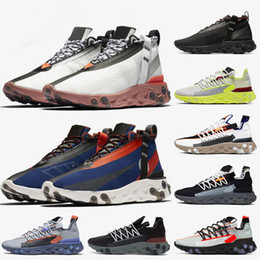 Discount gold aqua - Fashion Mens Women React Shoes React WR ISPA LW MID Running Shoes Wolf Grey Gunsmoke Ghost Aqua Platinum Volt Reacts Tra