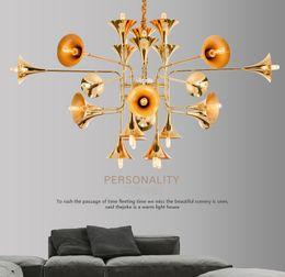 $enCountryForm.capitalKeyWord Australia - Industrial wind post-modern speaker big pendant lamp simple creative personality double floor villa pendant lights