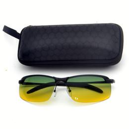 d38b01de3d 2019 Frameless metal Men Day Night Dual-Use Polarized rectangle Sunglasses  Car Driving UV400 Sun Glasses Fashion Eyewear FML