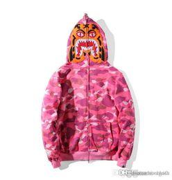 $enCountryForm.capitalKeyWord Australia - Mens Women Sportwear Coat Jogger Tracksuit Pullover Fleece Sweatshirt Crewneck Black Hip Hop Stusay Hoodie Men Shark Mouth