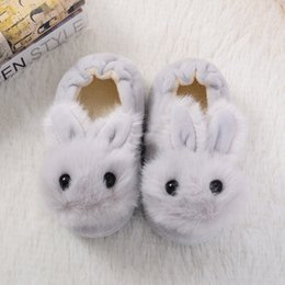 cute slippers for kids Australia - Girl Cute Home Slippers Cartoon Kid Fur Lined Winter House Slippers Warm Indoor for Boys