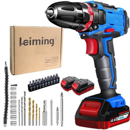$enCountryForm.capitalKeyWord Australia - Lingming 12.6-volt Lithium-Ion Hammer drill and Impact Driver household rechargeable Multifunction Max Power Tool Combo Kit
