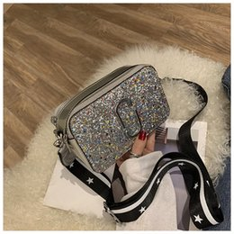 Camera Japan Australia - New Chaohua version wide shoulder strap inclined bag Chic 100-pack sequins camera bag for 2019-2